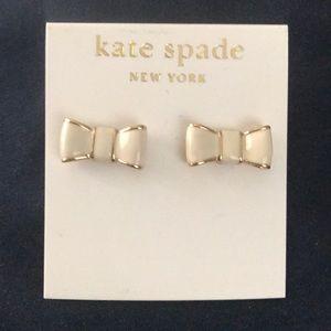 Kate Spade pierced bow earrings